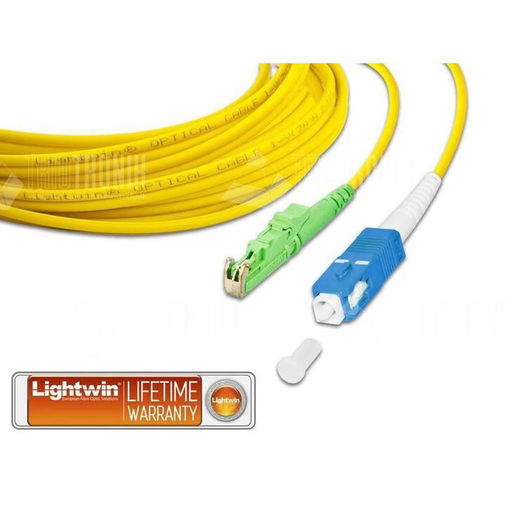 LIGHTWIN Câble réseau (SC Single-Modus, Fiche E-2000 (APC), 0.5 m)