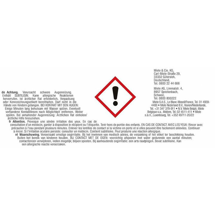 MIELE Liquide vaisselle GS SETD6 (400 g, Poudre)