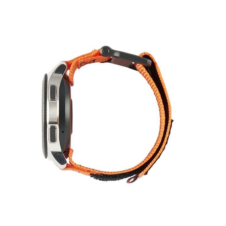 URBAN ARMOR GEAR Active Galaxy Watch Cinturini (Nero, Orange)