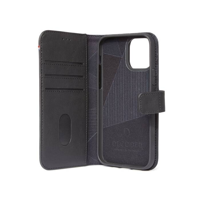 DECODED Flipcover Leather Wallet (iPhone 12 Pro Max, Nero)
