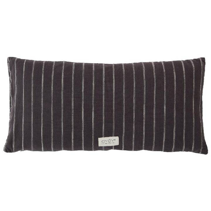 OYOY Kyoto  Coussin (30 cm x 60 cm, Anthracite)