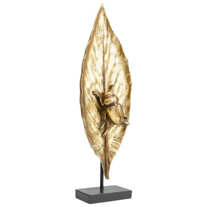 KARE Deko-Figur Beetle On Leaf (Gold)
