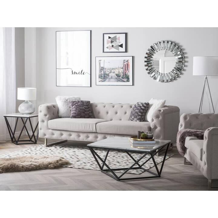 BELIANI Vissland, 3-Sitzer Sofa (Polyester, Beige, 215 cm x 87 cm)