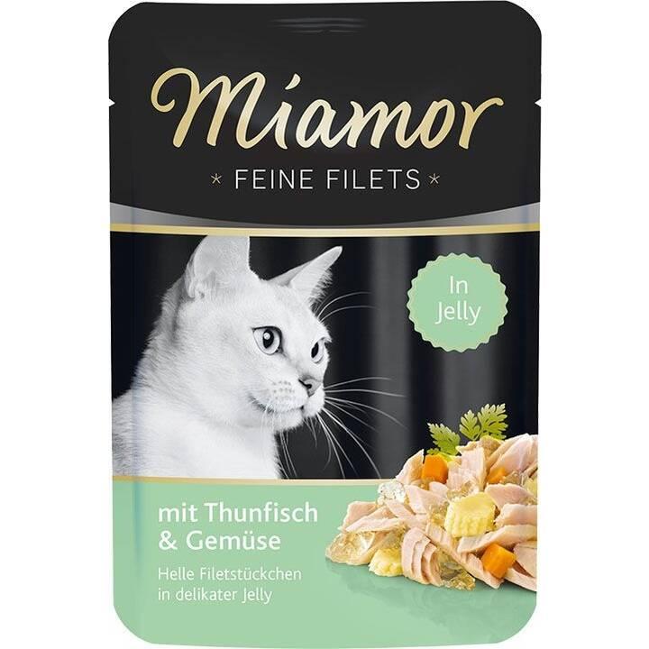 MIAMOR Alimentation humide (Adulte, 100 g, Thon, Légumes)