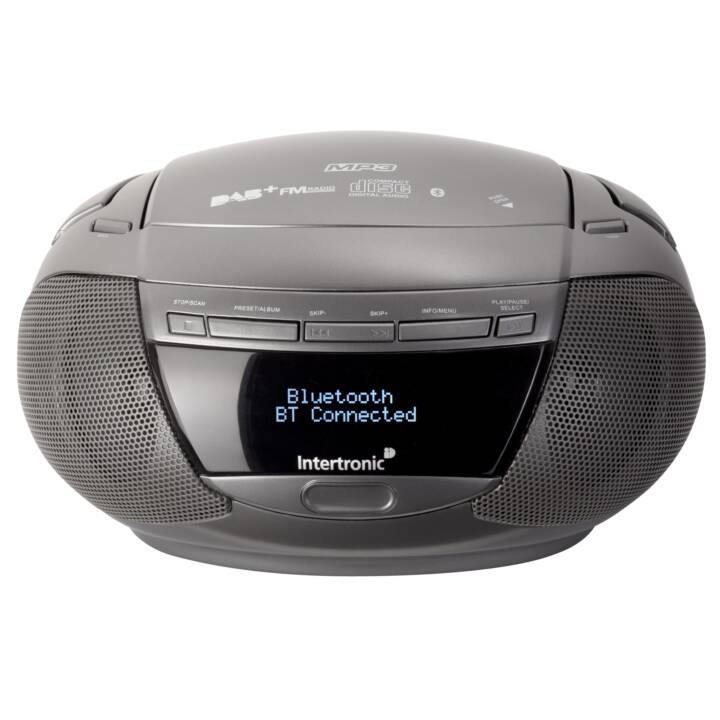 INTERTRONIC CD/MP3 Player MCD-16 DAB+ Grey