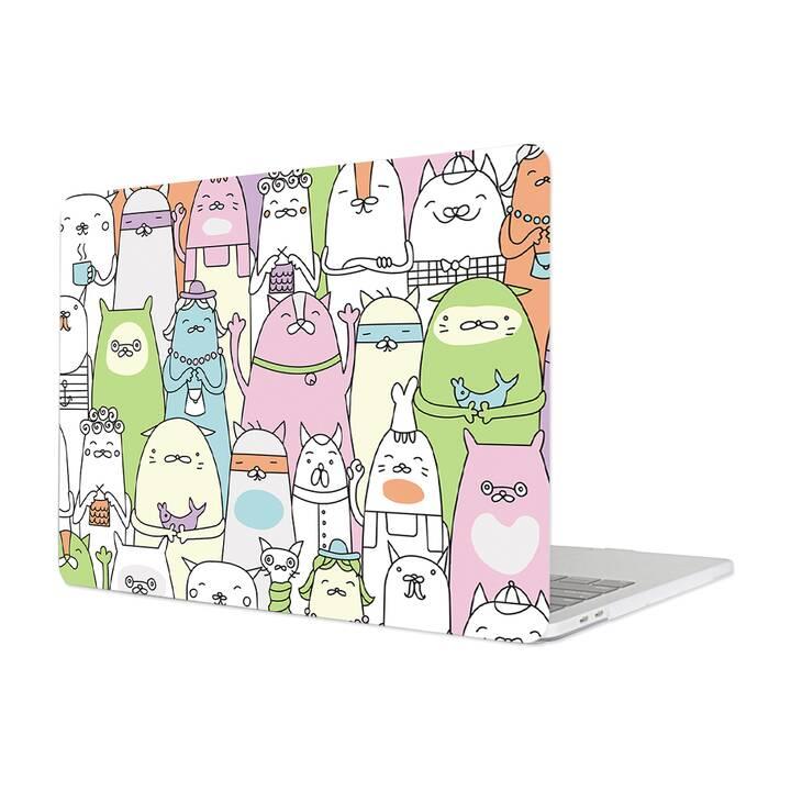 "EG MTT Cover für MacBook Pro 15"" Touchbar (2016 - 2018) - Cartoon Katzen"
