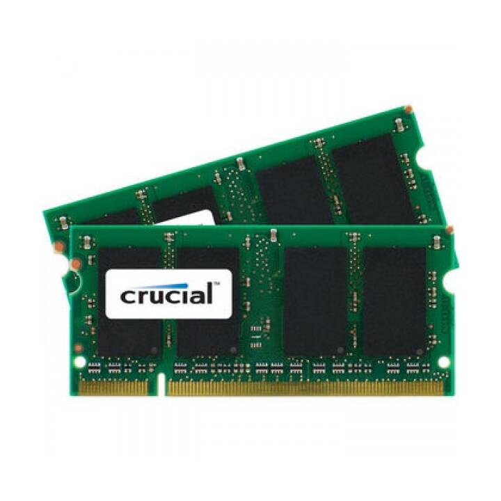 CRUCIAL CT2K4G3S160BM (2 x, 4 Go, DDR3-SDRAM, SO-DIMM 204-Pin)
