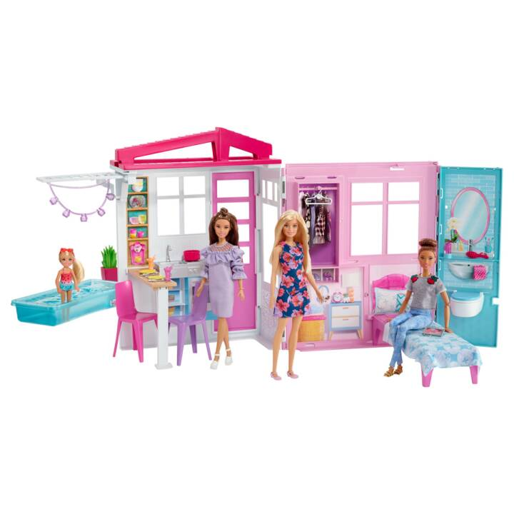 BARBIE Maison de vacances de poupée, inclu poupée