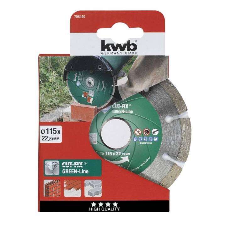 KWB Green-Line Diamant Trennscheibe, 115 mm