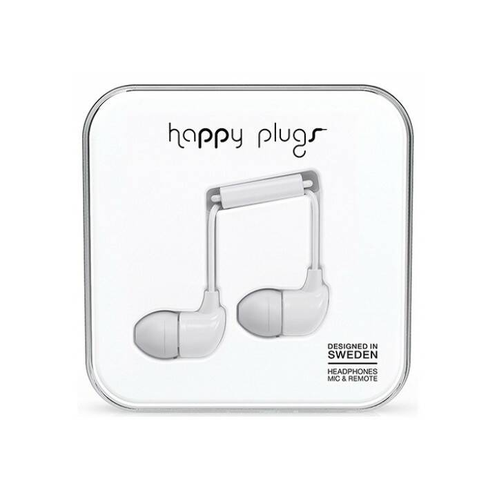 HAPPY PLUGS White (In-Ear, Bianco)