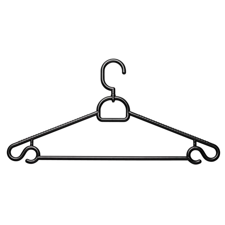 INTERDISCOUNT Kleiderbügel 6 Stück Black