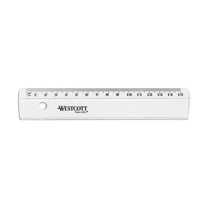 WESTCOTT Kunststofflineal 15cm