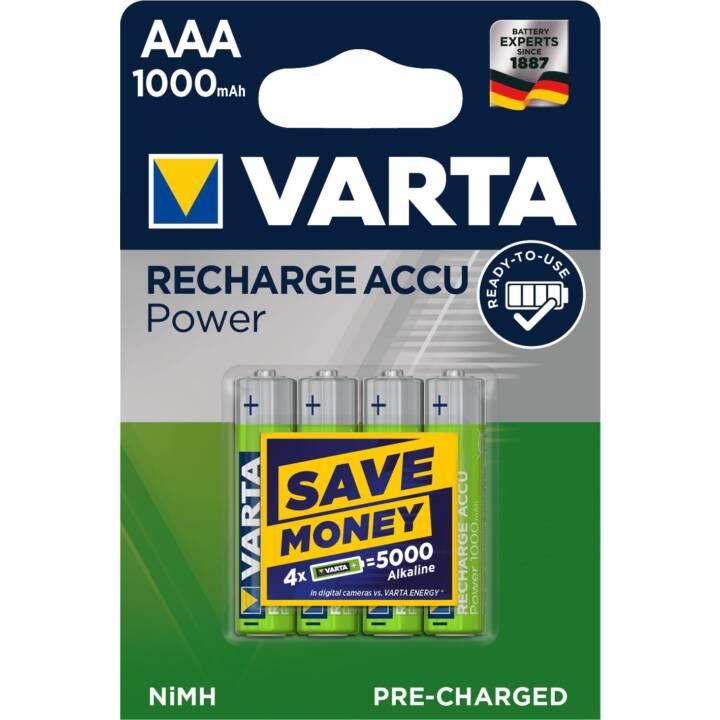 VARTA Power Accumulatore (AAA / Micro / LR03, 4 pezzo)
