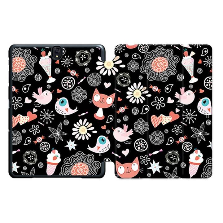 """EG MTT Sacoche pour tablette avec housse Smart pliable pour Samsung Galaxy Tab S3 9.7"""" - Cartoon Cats MTT"""