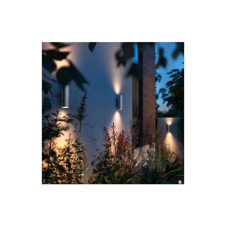 PHILIPS HUE Lampada da parete Appear (LED incorporato, 8 W, Argento)