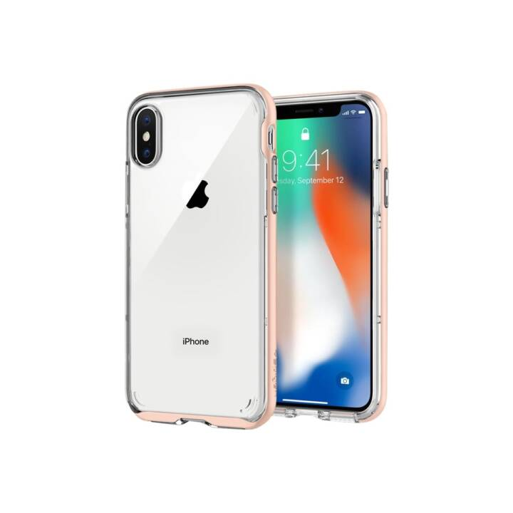 SPIGEN Backcover Neo Hybrid (iPhone X, Transparent, Rosa)