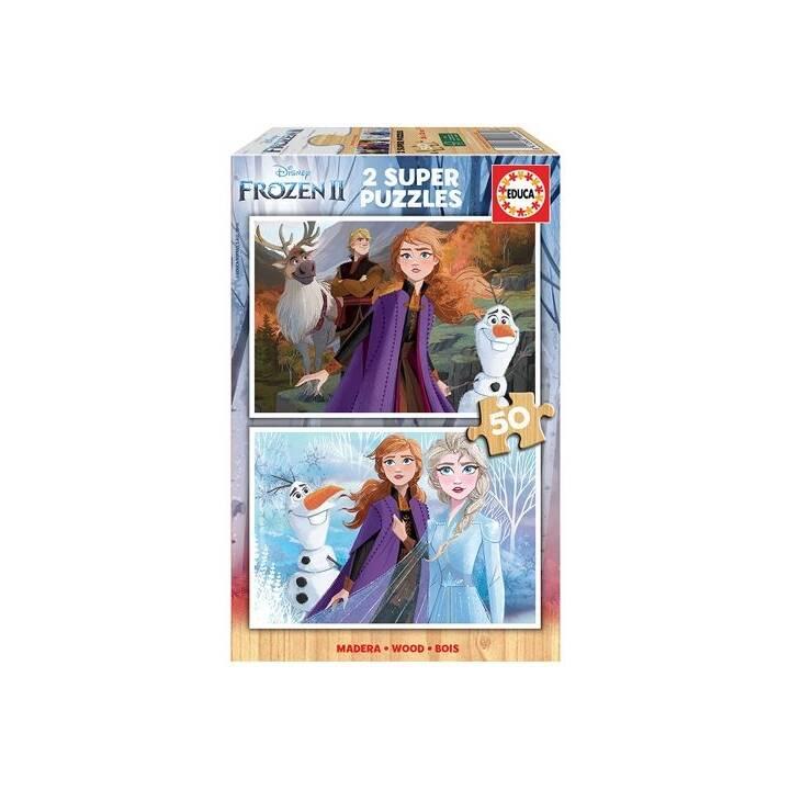 EDUCA Frozen 2 Puzzle (2 x 50 pièce)