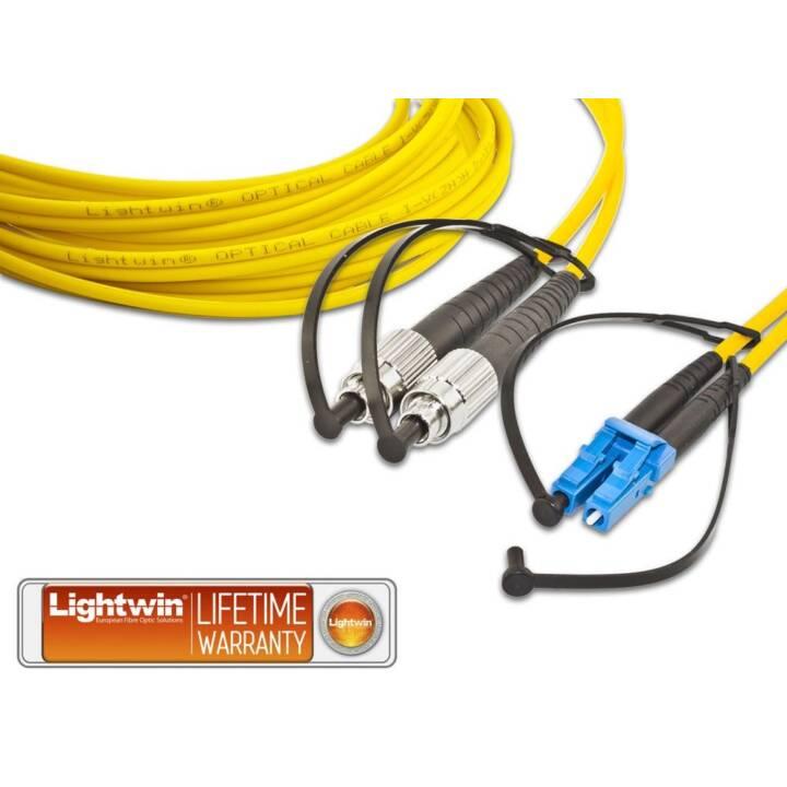 LIGHTWIN LWL HQ Câble réseau (LC Single-Modus, SC-Duplex, 1 m)