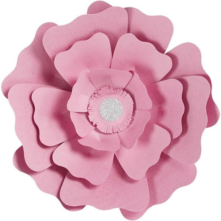 CREATIV COMPANY fleurs 15 + 25 cm, rose