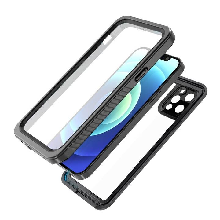 EIGER Hardcase Avalanche (iPhone 12 Pro, iPhone 12, Nero, Transparente)