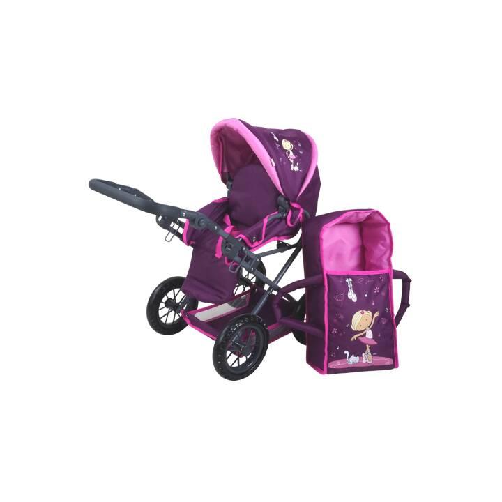 KNORRTOYS Ruby Miniclara Carrozzina della bambola (Pink, Viola)