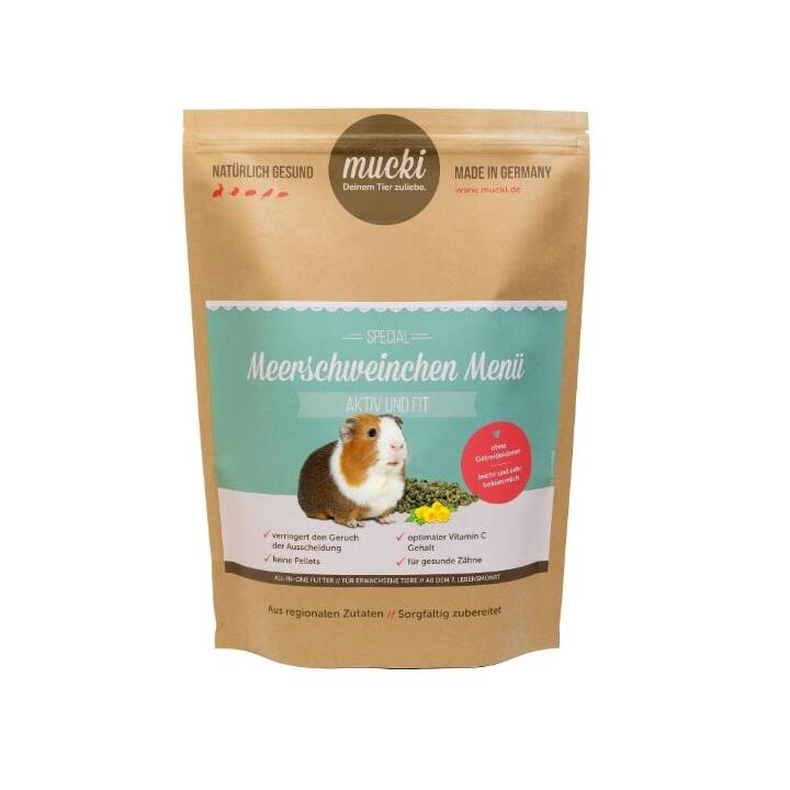 MUCKI Mangime di base Aktiv & Fit (750 g, Porcellino d'India)