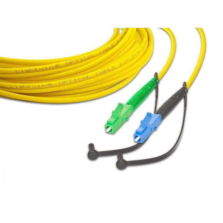 LIGHTWIN Netzwerkkabel (LC Single-Modus, 15 m)