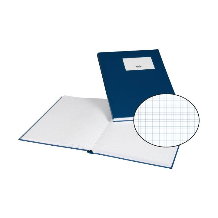 BIELLA business book, A4, bleu, 120 feuilles