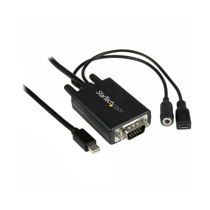 STARTECH.COM Adapter (3.5 mm Klinke, VGA, Mini DisplayPort, 5 pin Micro USB Typ-B, 3 m)
