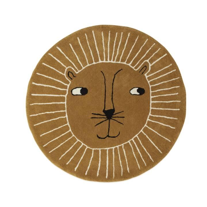 OYOY Tapis Lion (95 cm x 95 cm, Brun)