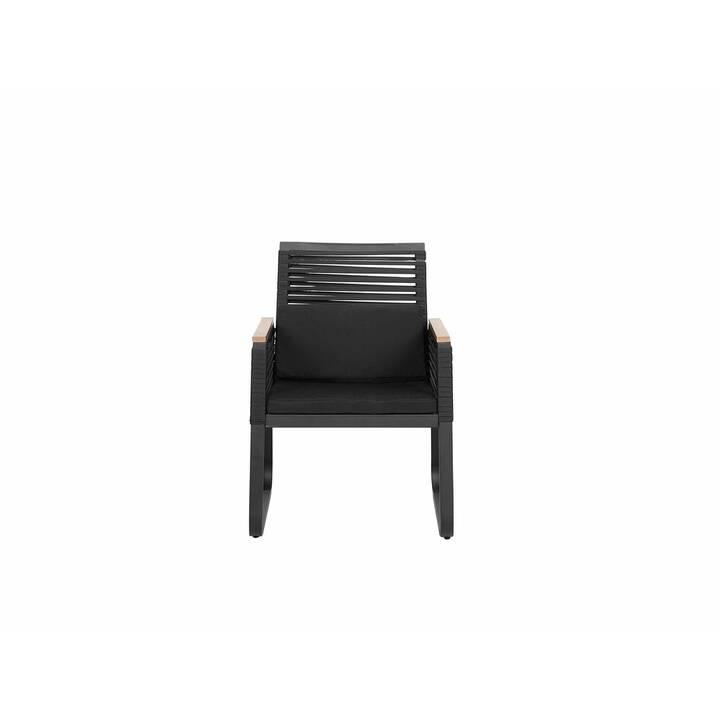 BELIANI Chaise en rotin Canetto
