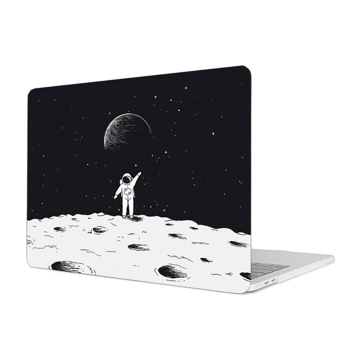 "EG MTT Étui pour Macbook Pro 13"" non Touchbar (2016 - 2018) - Astronaute Cartoon"