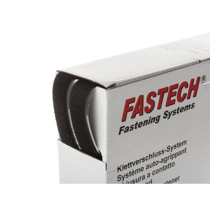Rouleau de bande velcro FASTECH 25 m x 20 mm autocollant noir