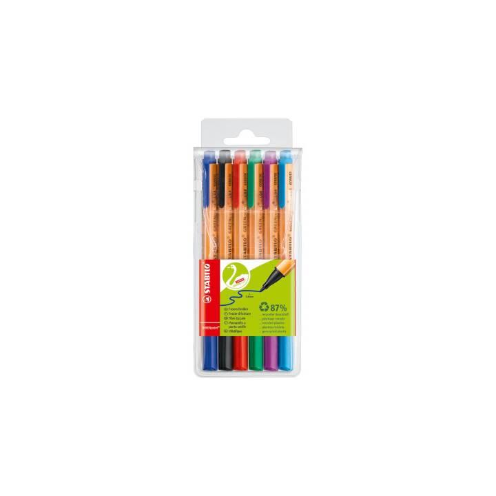 STABILO Greenpoint Crayon feutre (Multicolore, 6 Pièce)
