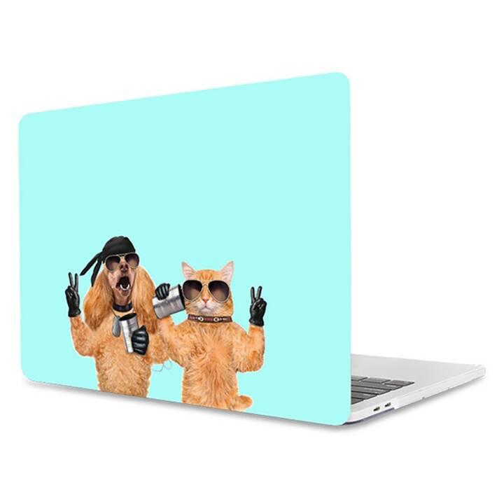 "EG MTT Laptop-Cover für Macbook Pro 13"" Touch Bar - Mint Funny Animals"
