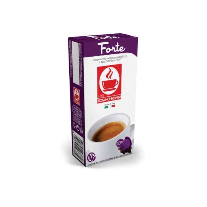 TIZIANO BONINI Kaffeekapseln Ristretto Forte (10 Stück)
