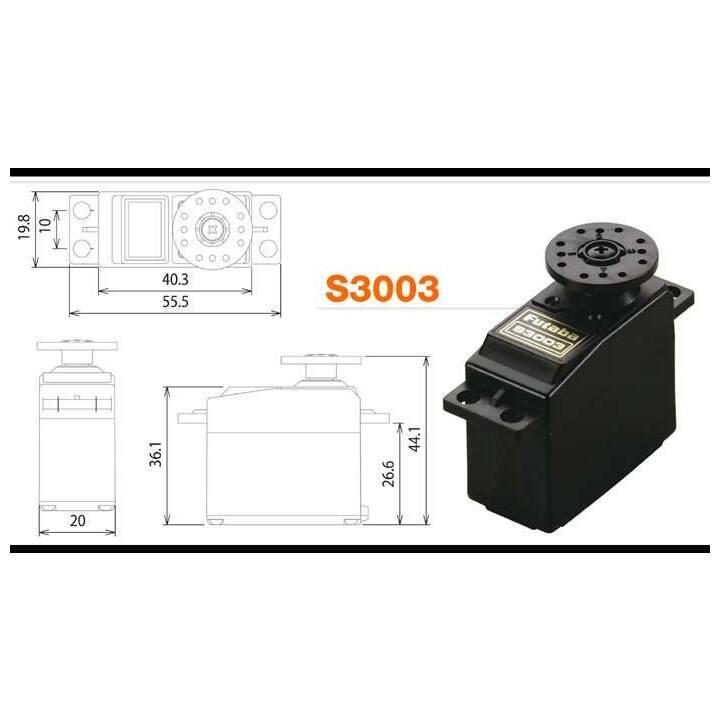 FUTABA Servocommande S3003 (Analogue)