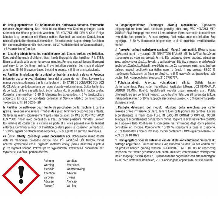MIELE GP CL CX 0102 T Reinigungstabletten