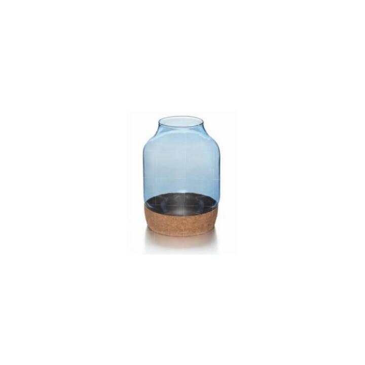 BALTHASAR Windlicht (Blau, 170 mm)