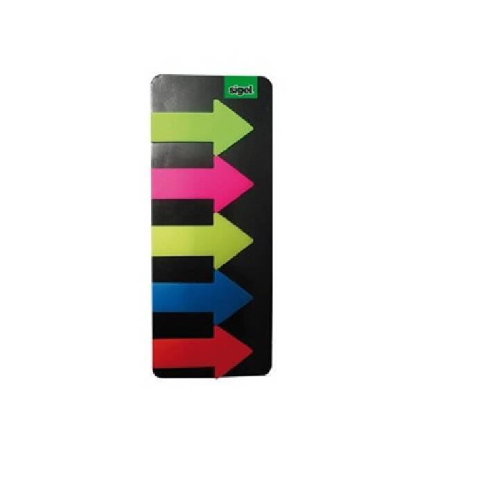 SIGEL Notes 25x45mm 5 Farben ass. 125 Blatt