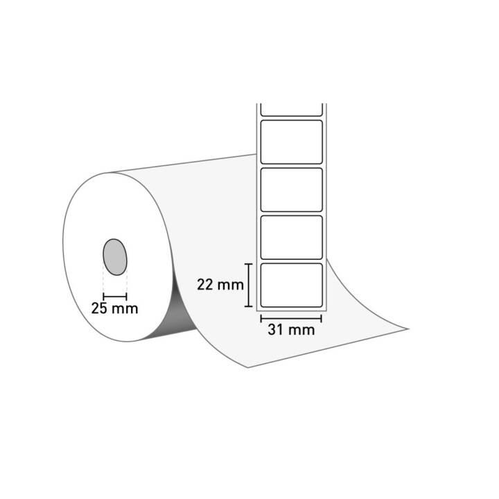 ZEBRA Z-Select 2000D Étiquettes, 33360 Étiquettes