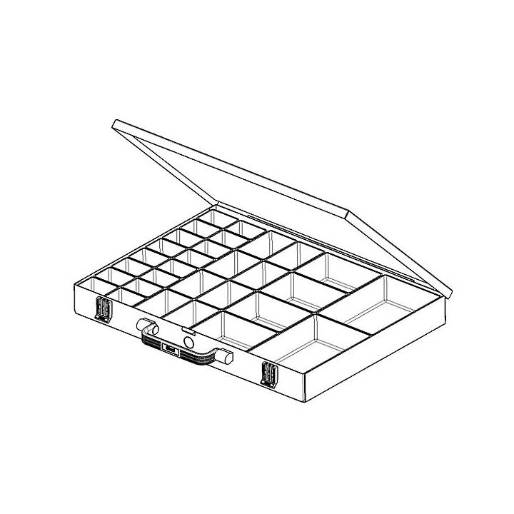 EUROKRAFT Sortimentskasten (5 cm x 34 cm x 47.2 cm)