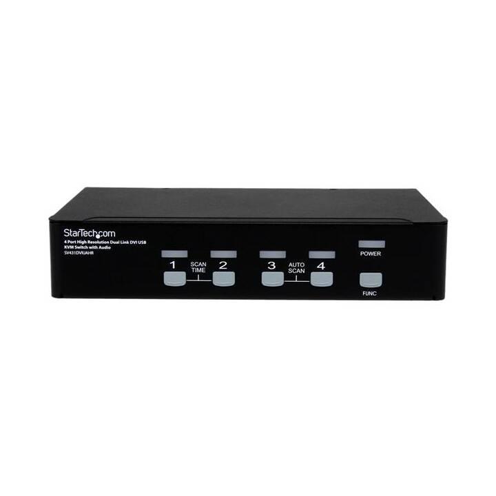STARTECH.COM 4-Port Dual Link DVI / USB KVM Switch