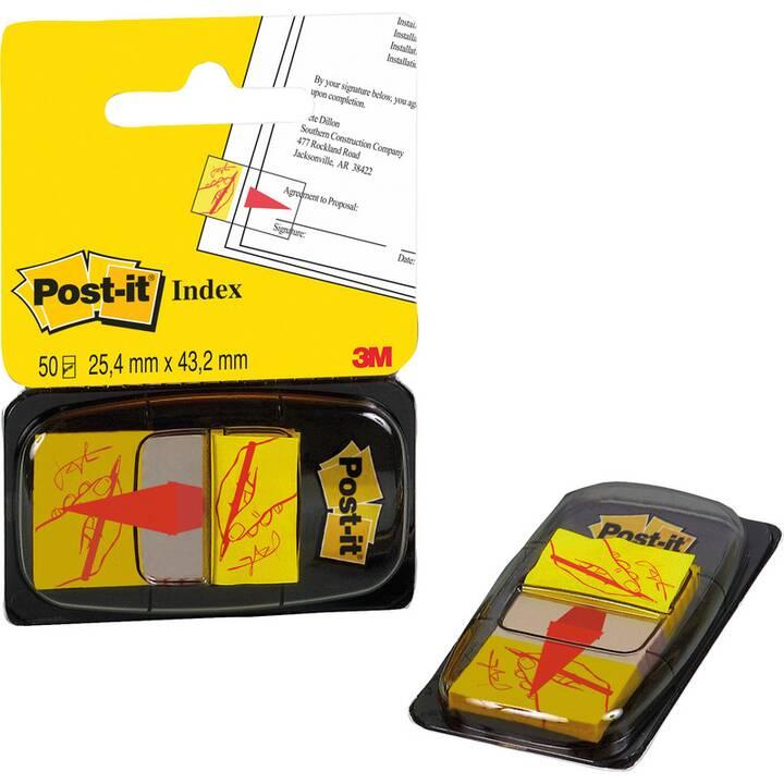 POST-IT Haftnotizen (25.4 mm x 43.2 mm, Gelb)