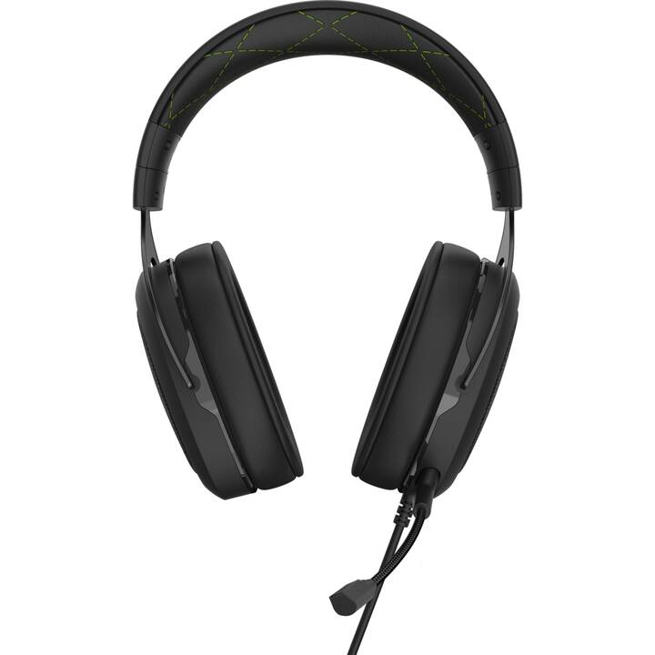 CORSAIR HS50 Pro Stereo Wired (Over-Ear, Verde, Nero)