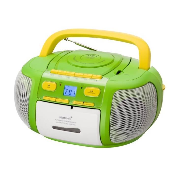 INTERTRONIC MCD-20 Kids Boombox (Verde, Giallo)