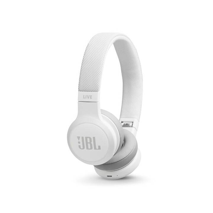 JBL Live 400BT (On-Ear, Bianco)