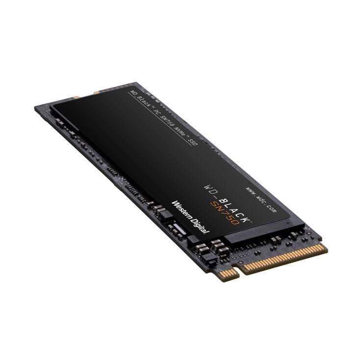 WD_BLACK SN750 (M.2 M Key, PCI Express, 2 TB, Schwarz)