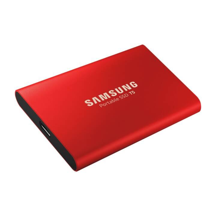 SAMSUNG Portable T5 (USB 3.1, 500 GB, Rot)