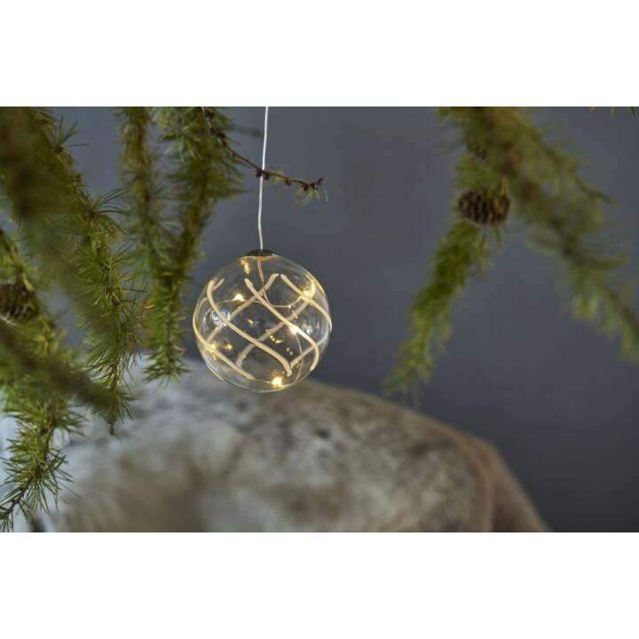 SIRIUS Vein LED Weihnachtskugel, 7,5 cm